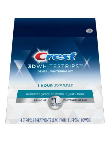 Crest 3D White Whitestrips 1 Hour Express фото 7