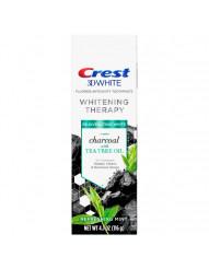 Отбеливающая зубная паста Crest 3D Whitening Therapy Charcoal Tea Tree Oil фото 1