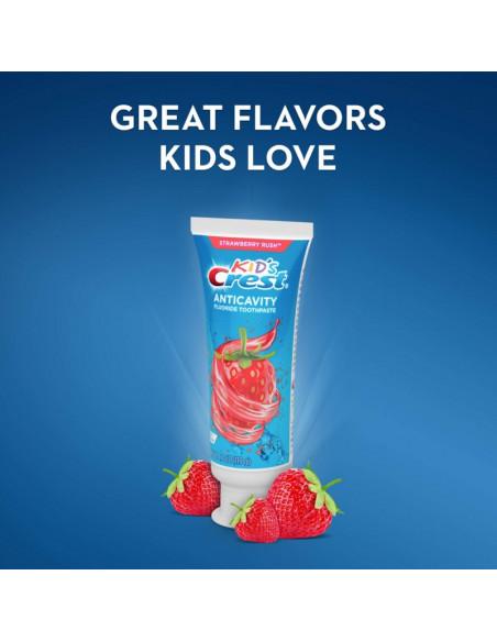 Детская зубная паста Crest Kid's Cavity Protection Strawberry Rush фото 5