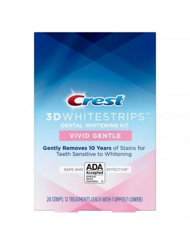 Crest 3D Whitestrips Vivid White Gentle фото 1