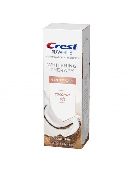 Отбеливающая зубная паста Crest 3D White Whitening Therapy Gentle Care Coconut Oil фото 2