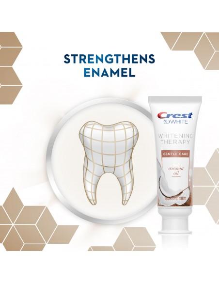Отбеливающая зубная паста Crest 3D White Whitening Therapy Gentle Care Coconut Oil фото 6