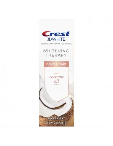 Отбеливающая зубная паста Crest 3D White Whitening Therapy Gentle Care Coconut Oil фото 1