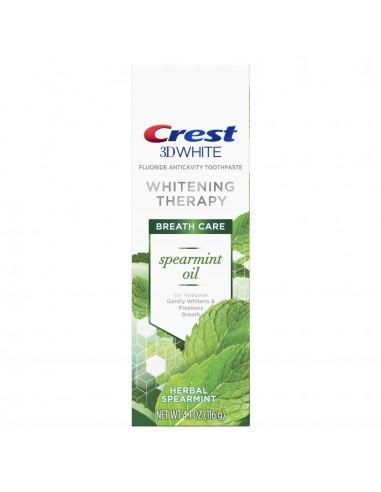Отбеливающая зубная паста Crest 3D White Whitening Therapy Spearmint Oil фото 1
