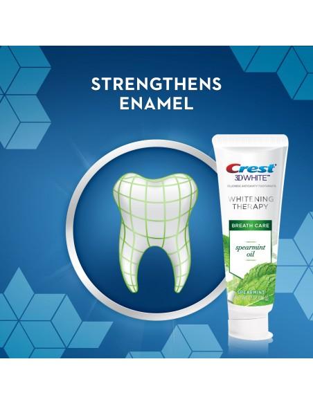 Отбеливающая зубная паста Crest 3D White Whitening Therapy Spearmint Oil фото 4