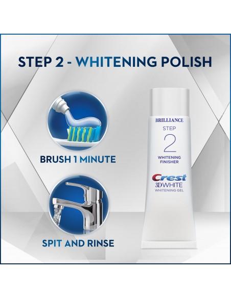 Двухступенчатая система отбеливания Crest 3D White Brilliance + Whitening Two-Step фото 7