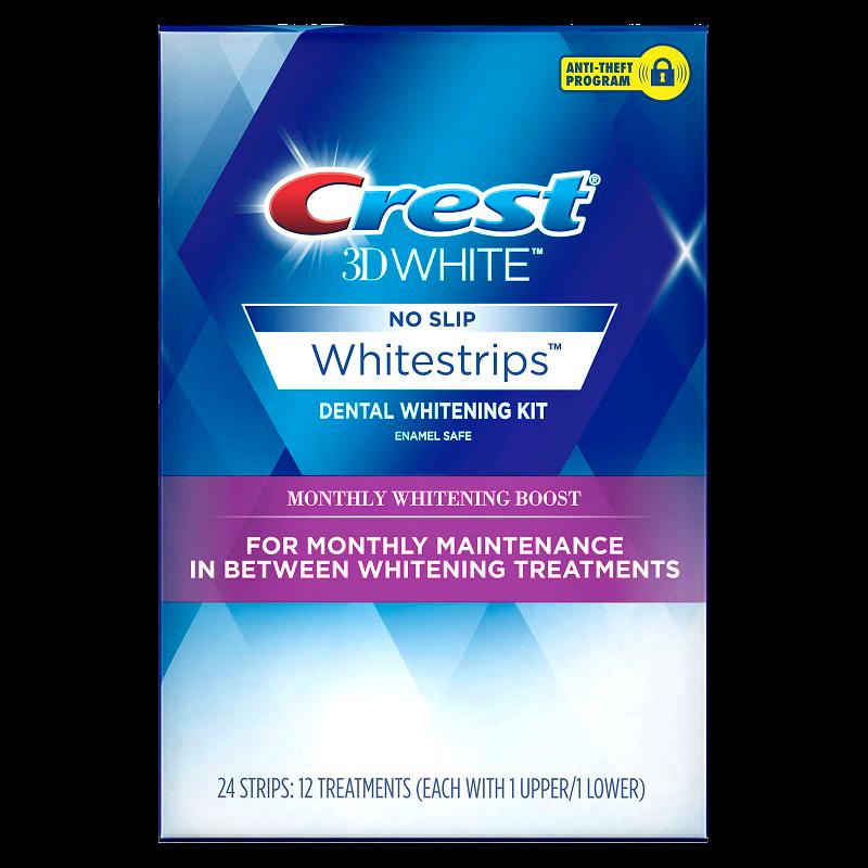 Отбеливающие полоски Crest 3D White Whitestrips Monthly Whitening Boost