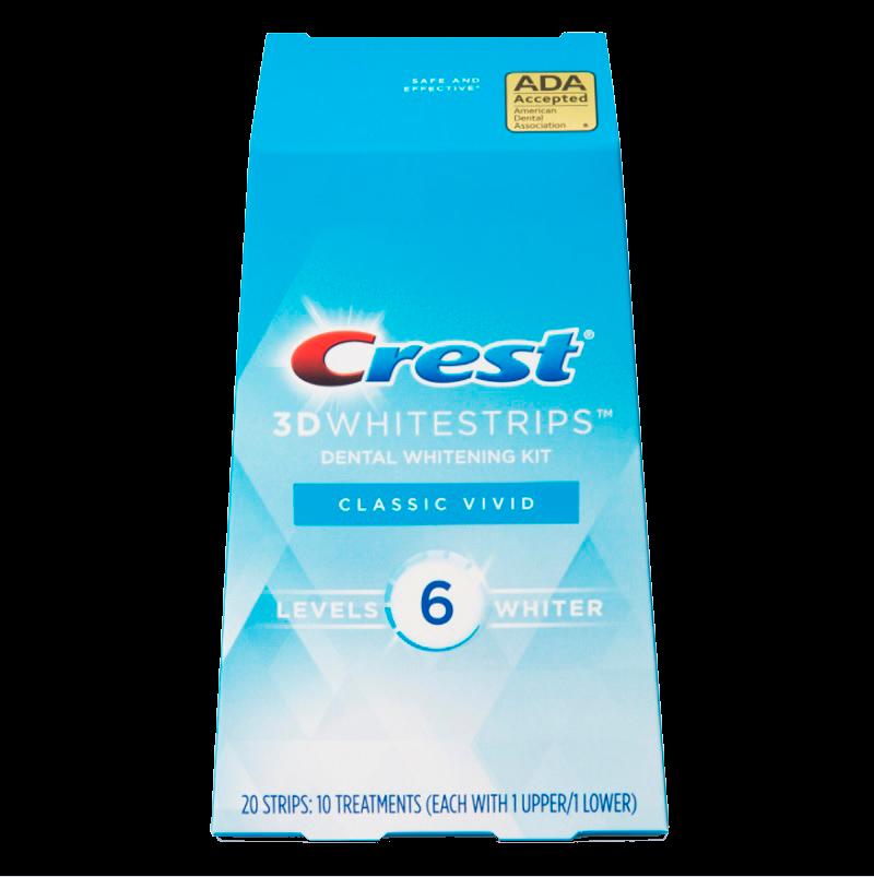 Отбеливающие полоски Crest 3D Whitestrips Classic Vivid