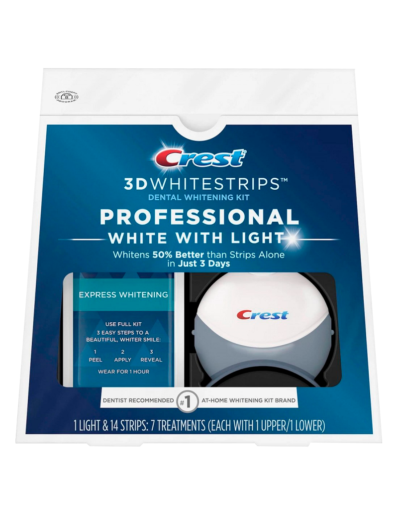 Отбеливающие полоски Crest 3D Whitestrips Professional White With Light
