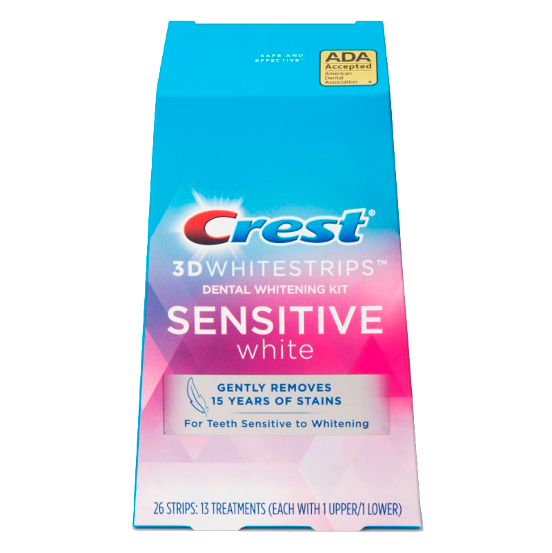 Отбеливающие полоски Crest 3D Whitestrips Sensitive White