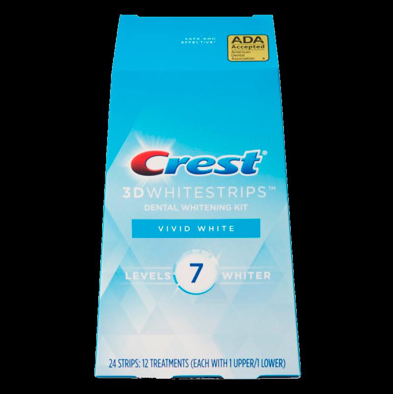 Отбеливающие полоски Crest 3D Whitestrips Vivid White